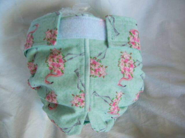 Female Dog Puppy Pet Diaper Washable Pant Sanitary Underwear ROSE FLAMINGO XXXS