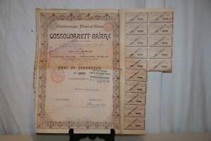 Ancienne Action Gossoudarieff-baÏrak De 1899. Sgtnx2zc-07221407-318980220