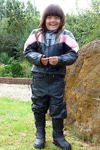 Baby-Biker-Champ-Kids-Toddler-Childs-Soft-Leather-Biker-Style-Jacket-Pink-T
