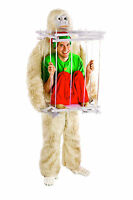 Abominable Snowman Suit and Ice Cage Costume Kit - Santa Pub Crawl Yeti