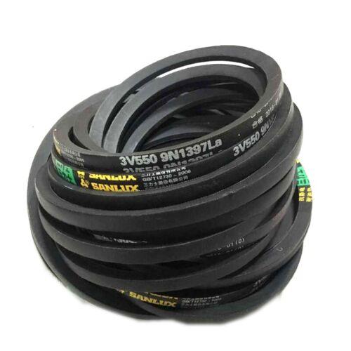 """1pc K21 K Type 21/"""" Inner Girth Rubber Machinery Transmission Drive V Belt Black"""