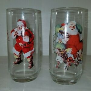 1 of 3 Coca Cola Father Christmas Glasses Great Condition  Collectible Brand New