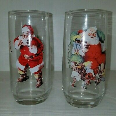 1946 Haddon Sundblom Coca-Cola Santa Christmas Series II Glass Three of Three