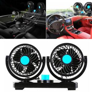 12V-Dual-Head-Car-Cooling-Fan-360-Rotatable-Oscillating-Dashboard-Ventilate-Fan