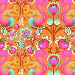 Free-Spirit-Tula-Pink-All-Stars-Begonia-Squirrel-PWTP028-Cotton-Fabric-BTY