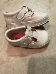 47d422504eaa1 Details about 💕 Keds Daphne White Leather T-strap Mary Jane Size 4 Toddler  Girls Shoes 💕