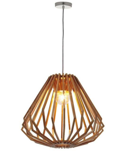 Stockholm Natural Wood Pendant Light From Beacon Lighting