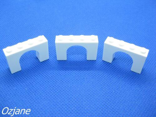 LEGO PART 6182 WHITE BRICK ARCH 1 X 4 X 2 SET OF THREE