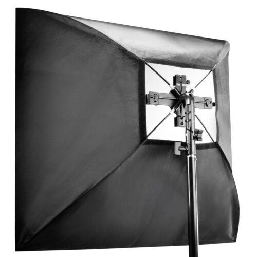 Softbox 90x90cm und Tasche walimex Set 4fach Blitzhalter inkl