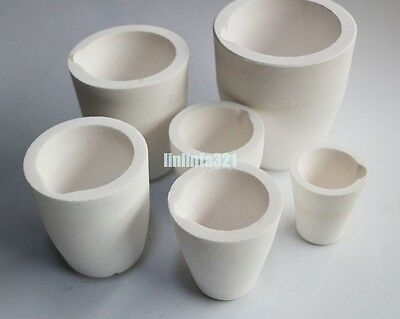 Ceramic Melting Crucible Cup Furnace Melting Casting Refining Gold Silver Copper