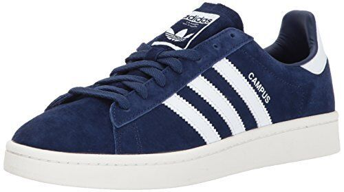 NEW adidas Blue/White/chalk Men's Campus Sneakers Dark Blue/White/chalk adidas White 9 M US SHIPS FREE 596843