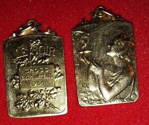 Medaille-Cross-du-SOIR-Entrainement-1951-bronze-dore