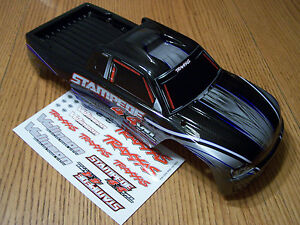 NEW-6708-Traxxas-4x4-Brushless-VXL-Stampede-Silver-Blue-Body-Also-Fits-XL-5-2wd