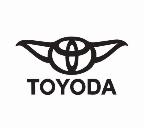 Toyota Yoda Star Wars Vinyl Die Cut Car Decal Sticker FREE SHIPPING