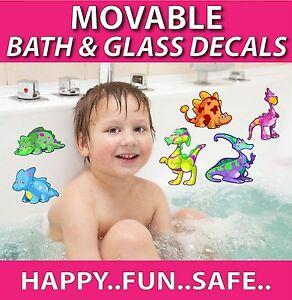 Dinosaur Bath Stickers - Totally MOVABLE - Make bath time fun