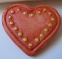M.i Hummel™ By Goebel Hand Painted Heart With Dots Pin Adorable/no Box