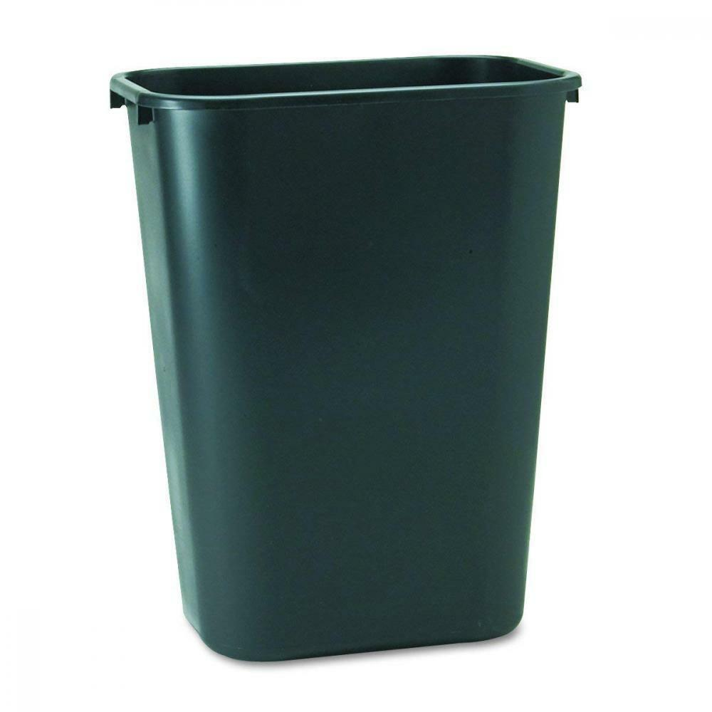 Rubbermaid Commercial 2957 10-Gallon Deskside Large Trash Can, Rectangular,...