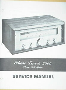 phase linear pl 5000 tuner service manual 40 pages ebay rh ebay com phase linear 400 service manual phase linear 700b service manual