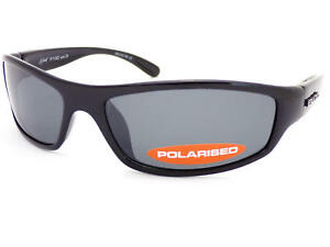 01006370ebe BLOC - HORNET small fit Wrap Sunglasses Shiny Black   Grey Polarized ...