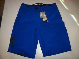 NEW Under Armour solid royal blue boys swim suit trunks board shorts sz 25 29 30