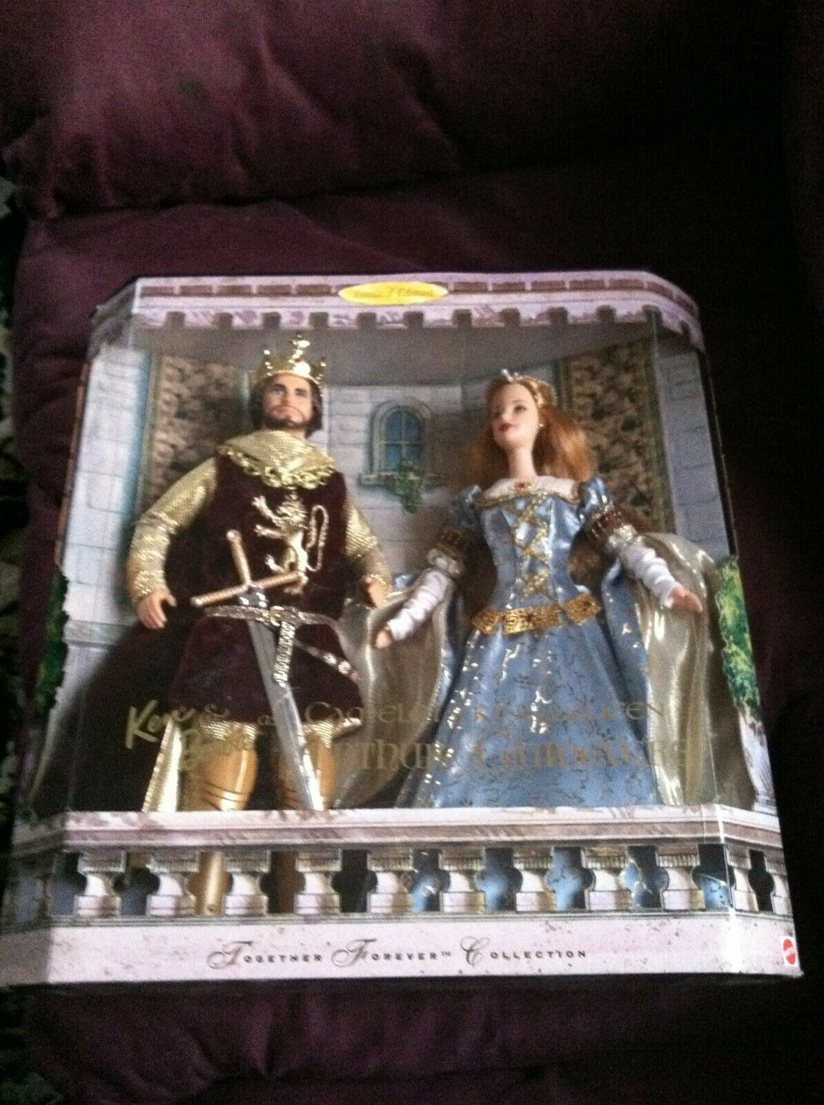 Barbie Ken Camelot's Rey Arturo Reina Guinevere Giftset Muñeca 23880 juntos