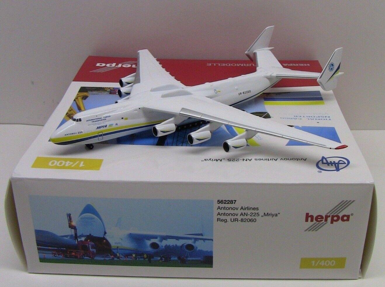 Herpa Wings Antonov AN-225 Mriya blu giallo giallo giallo 1 400 HE562287 6079f6