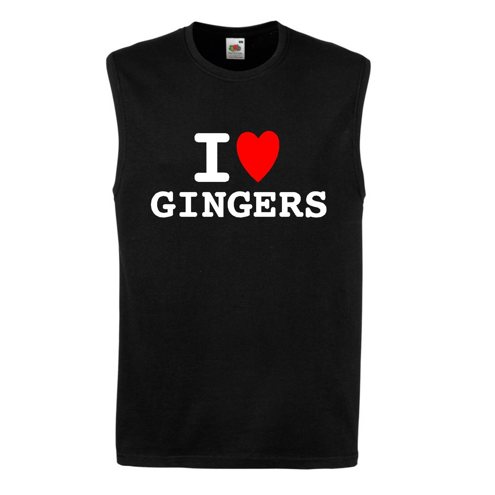 I heart love GINGERS T shirt BNWT choice colours /& sizes FUN retro party cool