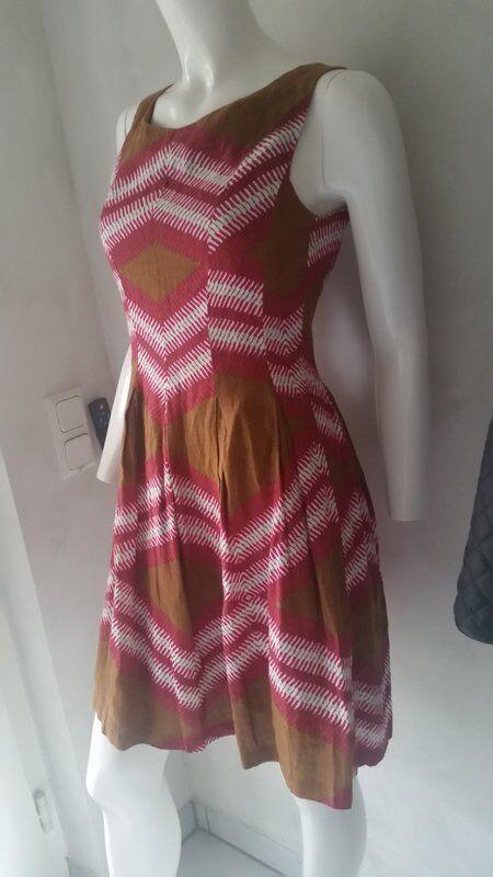 HALLHUBER Kleid Leinen multiFarbe braun Gr.34--UK6  NEU | | | Hohe Qualität Und Geringen Overhead  | Niedriger Preis  | Neu  38f9b9