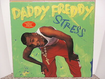 DADDY FREDDY / STRESS LP OG US 1991 PROMO RAGGA HIP HOP VINYL TENOR FLY RESPECT