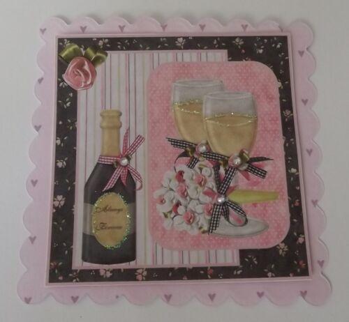 Pk 2 mariage fête embellissement toppers pour cartes ou artisanat