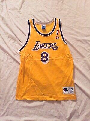 Vintage Champion NBA Los Angeles Lakers Kobe Bryant #8 Jersey L 14-16 Youth