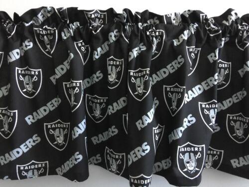 "Clearance!!Oakland Raiders on Black Football Sports Handmade Valance 57/"" x 14/"""