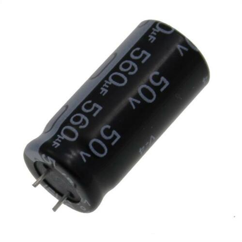 20x Elko Kondensator radial 560µF 50V 105°C ; ECR1HQL561MCF501225 ; 560uF