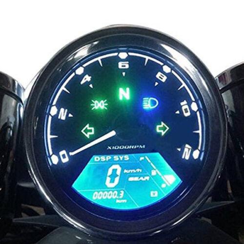 12000RMP kmh Universal LCD Digital Read Odometer Speedometer Tachometer Gauge