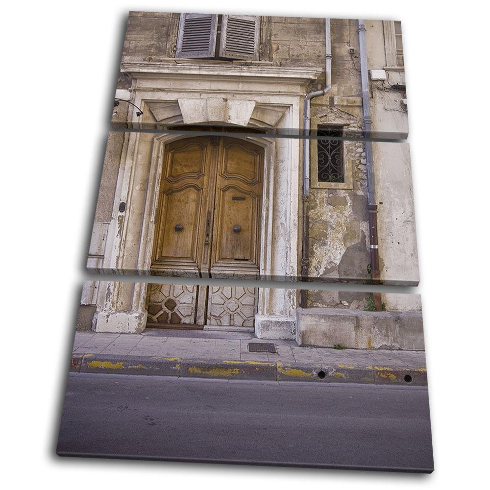 Rome Door Old City Treble Toile Murale Art Photo Print Print Photo