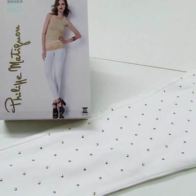 Leggings donna Matignon microfibra con stampa lucida e tasche dietro art Savane