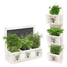 Herb Wooden Shabby Chic Seeds Planter Window Box Garden Plant Pot Indoor Gift