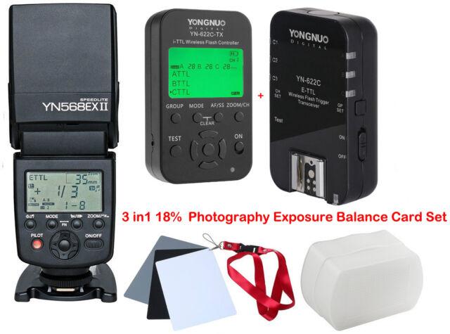 Yongnuo YN568EX II Speedlite + YN-622C Wireless TTL Trigger 1/8000s for Canon