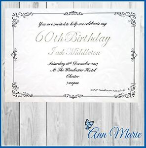Image Is Loading 10 X 60th BIRTHDAY PARTY INVITATION CARDS
