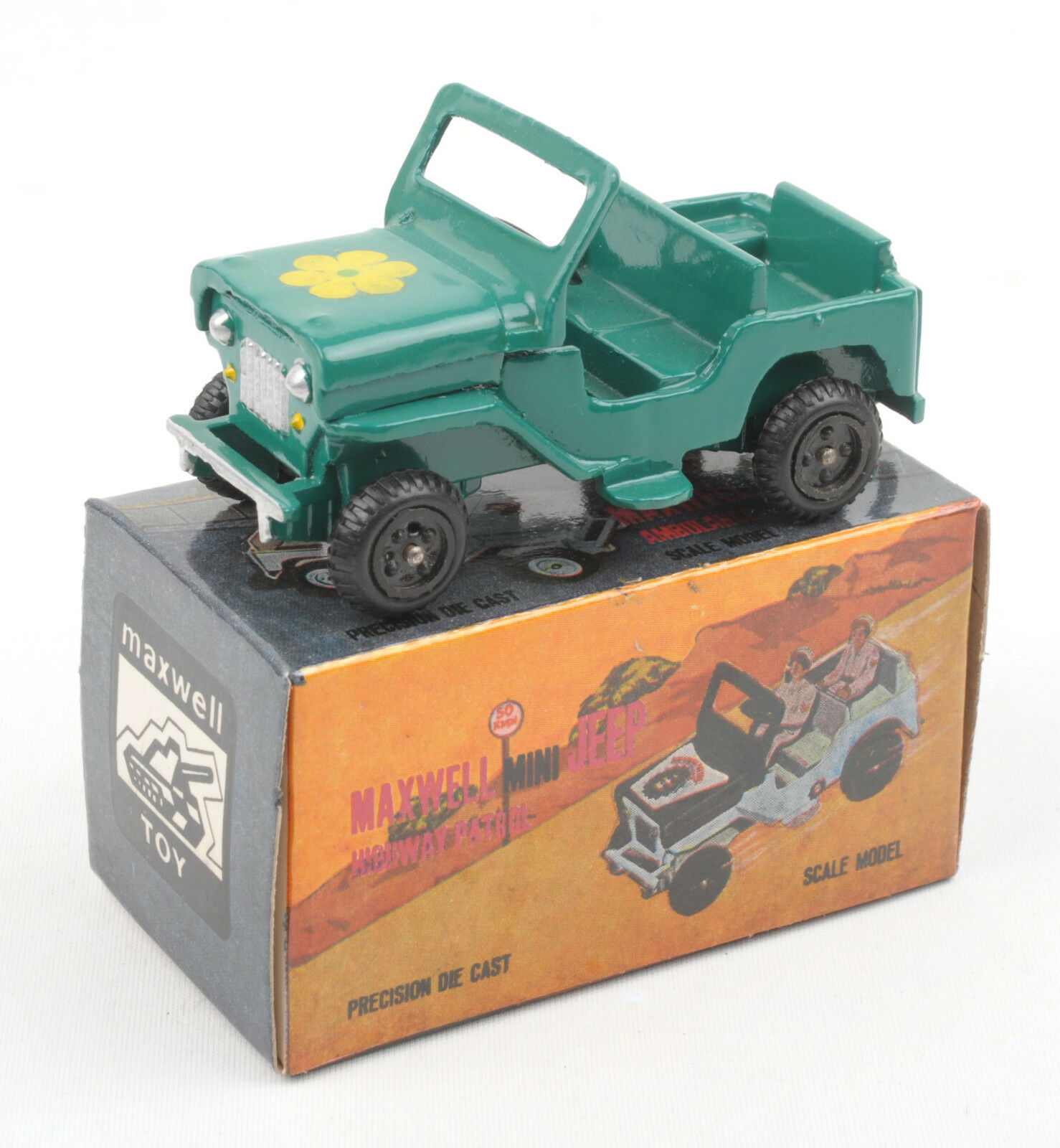 Maxwell Toys (Inde) No.550 Maxwell Mini Vert Jeep 1970 S  En parfait état, dans sa boîte