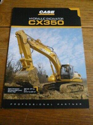 """CASE CX 210 TRACKHOE EXCAVATOR CONSTRUCTION LARGE 43/"""" x 24/"""" HD SHOP POSTER PRINT"""