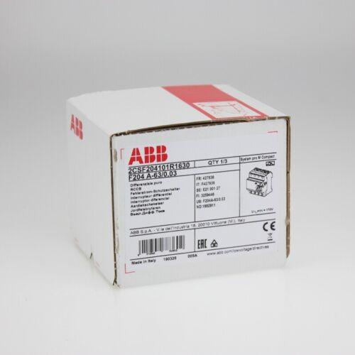 30ma tipo a 63a Abb f204a-63//0,03 fi-disyuntor 4p