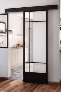 Details about Industrial Art Deco Style Interior Sliding Door 730mm