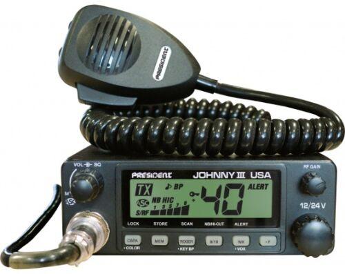 ASC PRESIDENT JOHNNY III USA CB RADIO PRO TUNED AND ALIGNED 12 VOLT//24 VOLT