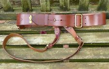 "GENUINE British Army Issue Officers Sam Browne Belt Leather 37""-39"""