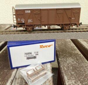 ROCO-76896-H0-gedecker-Gueterwagen-Gs-der-DSB-Daenemark-Epoche-4-neu-in-OVP