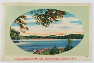 Postcard-Greetings-From-Camp-Ottoville-Kinderhook-Lake-Niverville-New-York-1952