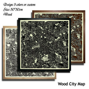 Wood-City-Map-BERLIN-Germany-Decor-Picture-Town-Village-Laser-Cut-Wall-Art-50x50
