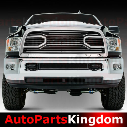 10-17 Dodge RAM 2500+3500 Big Horn Chrome Packaged Grille+Shell Replacement