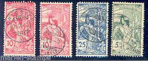 SWITZERLAND-SCOTT-99-101-USED